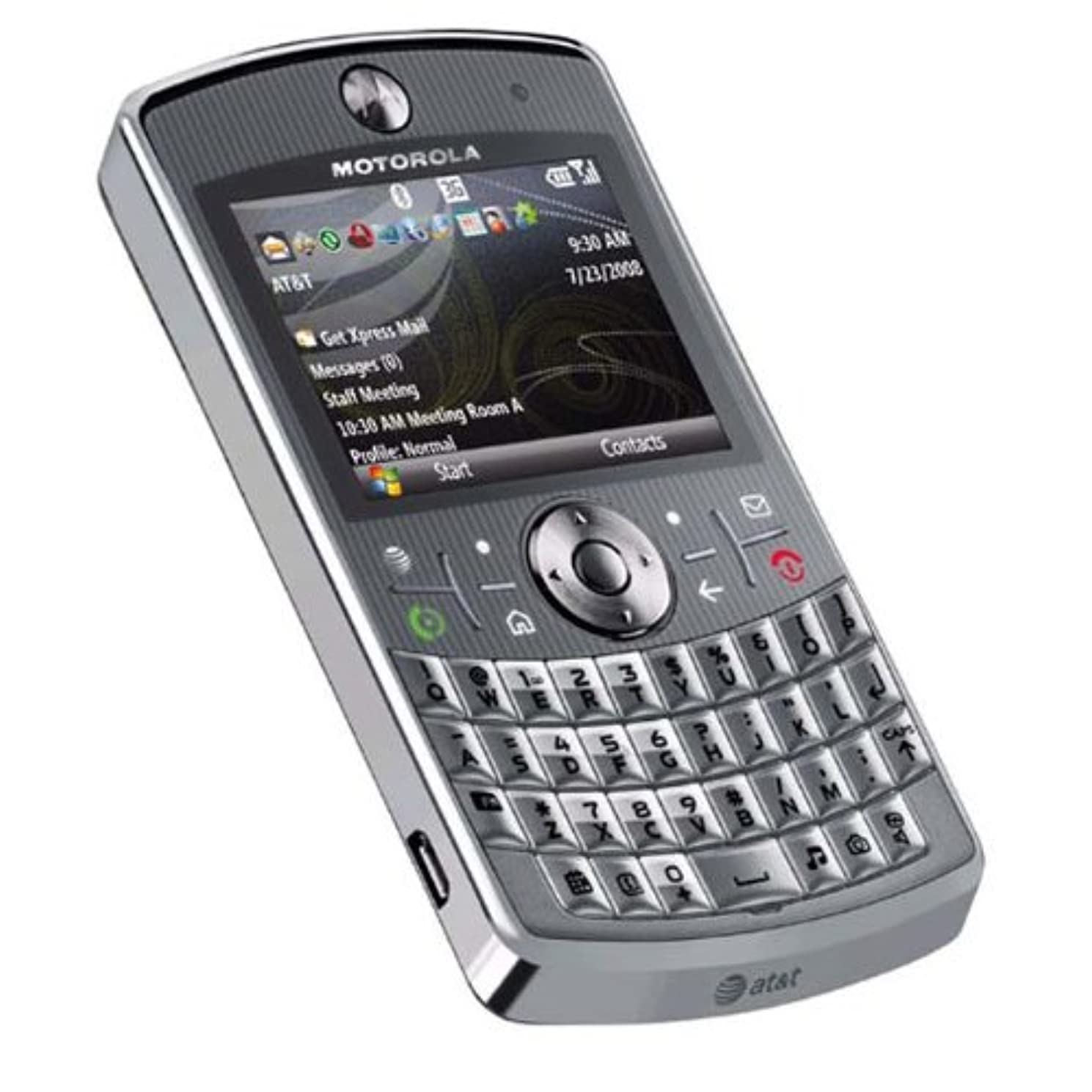 Motorola Q9h Unlocked PDA Cell Phone with 2 MP Camera and Windows Mobile 6.0-U.S. Version with Warranty (Silver)