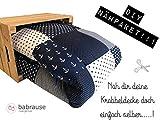 molo Stoffe DIY Krabbeldecke Nähpaket Wale Anker blau
