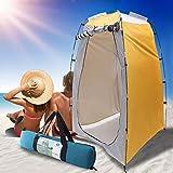 Tenda portatile da campeggio, tenda pop-up per privacy, doccia, toilette, spogliatoio per esterni, tenda da pesca con borsa per il trasporto, tenda parasole da spiaggia, Giallo., Taglia