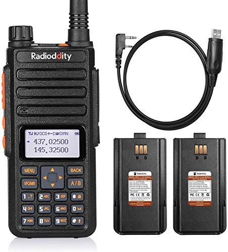 El walkie-Talkie Radioddity GA-510, de Banda Dual con 10 vatios de Potencia para Largo Alcance es una Radio de Aficionados Que Viene con Auricular, 2 baterías y Cable de programación