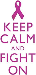 Breast Cancer Keep Calm and Fight On Awareness Motivational Inspirational White Cool Huge Large Giant Poster Art 36x54