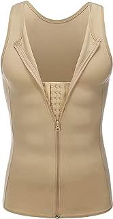 Wonder-Beauty Mens Waist Trainer Vest Body Shaper Slimming Shirt Compression Vest Slim Shapewear Workout Suit