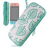 Custodia per Nintendo Switch - Portatile Custodia Protettiva da Viaggio con 8 Cartucce di Gioco per Nintendo Switch e Accessori per Ragazze Ragazzi di YOUSHARES(Leaf Crossing)