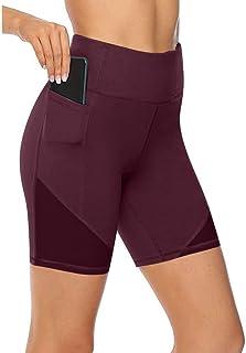 $49 » KANGMOON High Waist Out Pocket Yoga Pants Tummy Control Workout Running 4 Way Stretch Yoga Leggings
