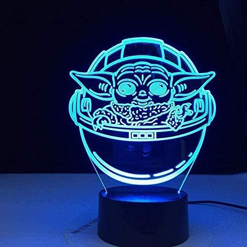 3D-Illusions-Nachtlicht, Lavalampen für Kinder, Jugendzimmer, Dekoration, 16 Farbwechsel-Dekor-Lampe – perfektes Geschenk für Kinder und Zimmer