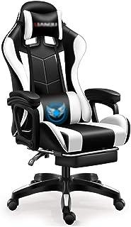 Sillas de escritorio Silla de Oficina ergonómica con Ruedas, ridículamente cómoda computadora con Respaldo Alto Silla giratoria de Estudio en casa (Color : Blanco, Size : 70 * 70 * 133cm)