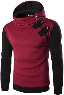 MogogoMen Hoode Plus Size Two Toned Active Classic Hooded Sweatshirt