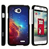 TurtleArmor | Compatible with LG Optimus L70 Case | LG Ultimate 2 Case | LG Exceed 2 [Slim Duo] Two Piece Hard Cover Slim Snap On Case on Black - Colorful Nebula Galaxy