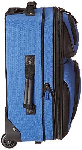 U.S. Traveler Rio Rugged Fabric Expandable Carry-On Luggage Set 2-Piece, Royal Blue