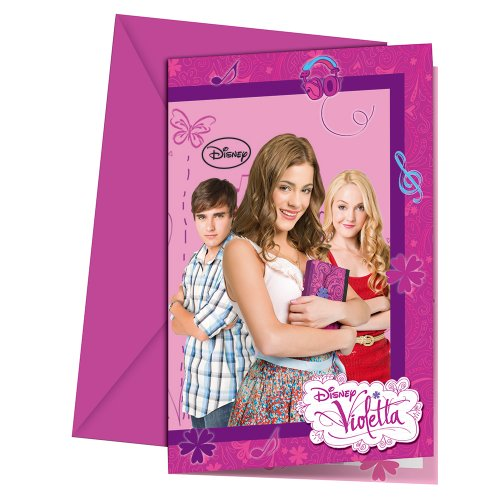 Disney Violetta Invitations (Pack of 6)