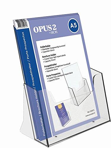OPUS 2 350071 - Soporte pare folletos, Plástico sólido, para A5