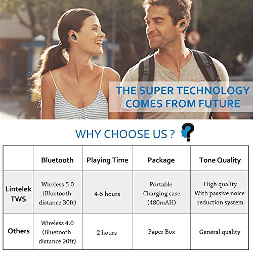 Lintelek TWS Bluetooth V50 Wireless Bild 4*