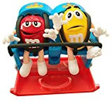 Roller Coaster Candy Dispenser by M&M Characters Red and Yellow dispense candy, gumballs, nuts, snacks and treats for children, kids, adults
