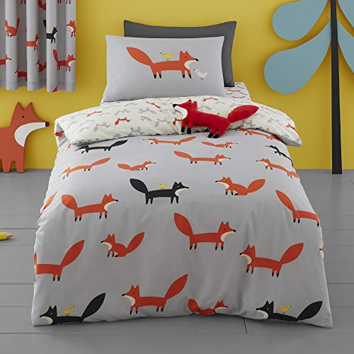 Cosatto - Mister Fox - Duvet Cover Set - Single Bed Size in Orange