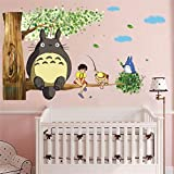 Totoro 3D Cartoon Wall Sticker Kindergarten Kids Room Decor Removable Mural Anime Sticker D227S 23.62x47.24'