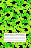 Cuaderno Doble Pauta 3,5 mm A5: cuaderno doble raya niños - 50 hojas - 100 páginas - cuaderno doble línea sin espiral -...