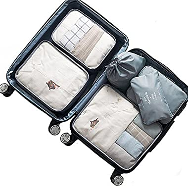 OEE 7 pcs Luggage Packing Organizers Packing Cubes Set for Travel