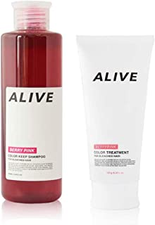 ALIVE COLOR KEEP SHAMPOO & TREATMENT VERY PINK 各1本セット 極濃ピンクシャンプー 200ml カラーキープトリートメント ベリーピンク180g カラーキープシャンプー&カラーキープトリートメント