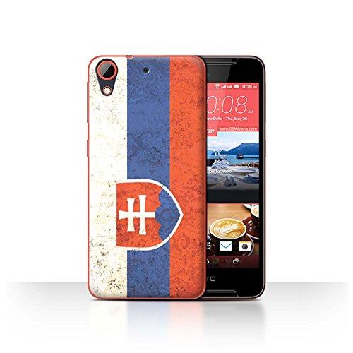 Handy Hülle kompatibel mit HTC Desire 628 Flagge Slowakei/Slowakisch Transparent Klar Ultra Dünne Handyhülle Hülle Cover