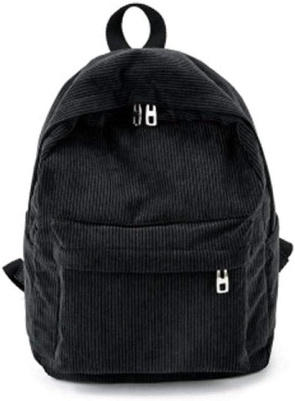 ZYSAJK Women Solid Corduroy Backpack Simple Tote School Bags for Teens Shoulder Travel Fashion Women Backpack