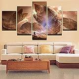 HFDSA Leinwandbild 5 TLG Kunstdruck Dune Roman Monster Film