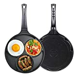 Induction Egg frying pan 3-cup Three Mold Used for induction and...