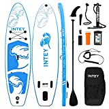INTEY Inflatable Stand Up Paddle Board 11'×33'×6' with Foot and...