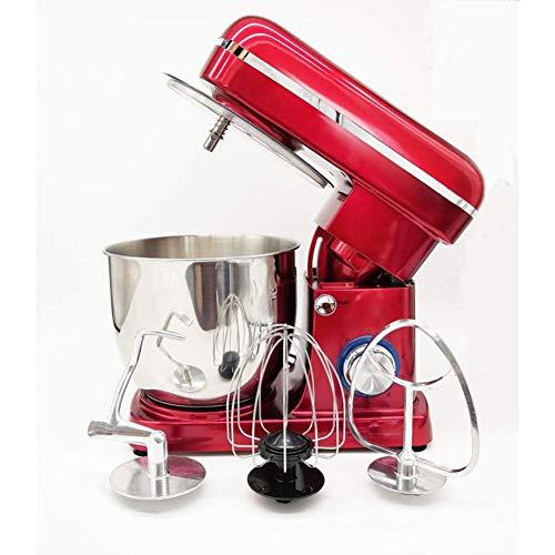 Mezclador de alimentos Mezclador de masa, 1500w máx, Tazón de mezcla de 5l, silencioso menos de 80, bajo Db (batidor, gancho, batidor)