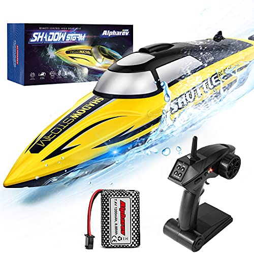 RC Boat-AlphaRev R208 20+ MPH Fast Remote Control Boat with LED Light...
