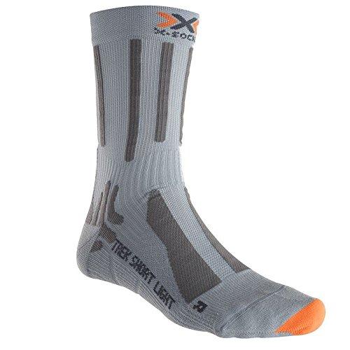 X-SOCKS Trek Short Light Chaussettes de randonnée Homme, Gris/Marron, Taille 39-41