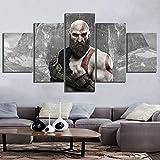 Angle&H 5 Verkleidungs Segeltuch Gemälde Kratos God of War 4 ARPG Spiel Poster Wandkunst zum Zuhause Hintergrund Dekor,A,20x30x2+20x50x1+20x40x2
