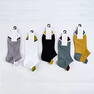 Men's Fashion Running Socks, Mix and Match 10 Pairs of Cotton Sports Socks, Spring and Summer Thin Men's Ankle Socks, Used for Fitness, Outdoor Sports