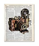 Steampunk Camera Upcycled Vintage Dictionary Art Print 8x10 UNFRAMED from our Riot Collection