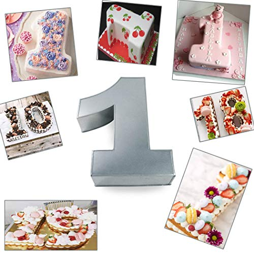 Small Number One Birthday/Wedding Anniversary Cake Tins/Cake Pans/Cake Mould 10' x 8' x 2.5' Deep