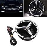 LED Grilled Avant Car Star Emblem Illuminated Logo Centre Badge Lampe Avant pour Mercedes Benz 2013-2015 A B C E R GLK ML GL CLA CLS CLAS,White Light