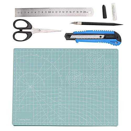 5 stuks A4 zwart/groen PVC snijmat snijmat mes werkmes mes mes mes werkmes staal schaar Lichtgroen