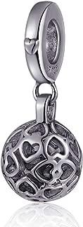 Authentic Original 925 Sterling Silver Charm Harmonious Hearts Rose Dangle Charm Fit Woman Charm