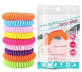 20 Pack Mosquito Bracelets, DEET-Free Waterproof Mosquito Bands, 20 Individually Packed Bands