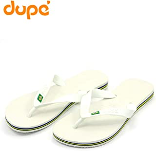 Dupe White Flip Flop Thong Design Slipper for Mens
