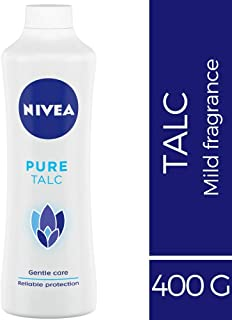 NIVEA Talcum Powder for Men & Women, Pure, For Gentle Fragrance & Reliable Protection Against Body Odour, 400 g