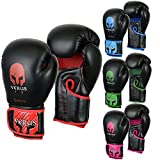 VERUS Boxing Gloves MMA Martial Arts Training Punching Bag Sparring Mitts UFC (Red, 12oz)