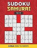 Juega con tu mente: SUDOKU SAMURAI Vol. 42: Colección de 100 diferentes Sudokus Samurai para Adultos | Fáciles y Avanzados | Ideales para Aumentar la ... por Página | Soluciones Incluidas al Final