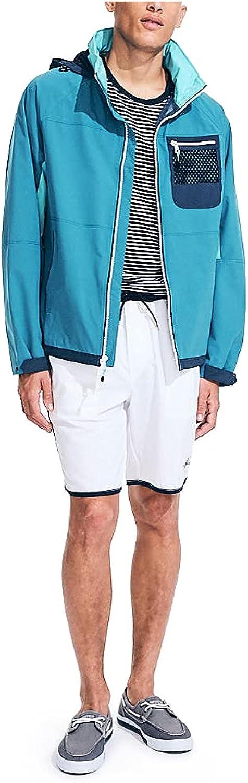 Nautica Men's Lightweight Colorblock Hooded Jacket