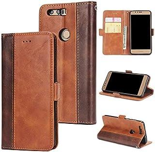 携帯電話アクセサリーHuawei社の名誉8、2色のために電話ケースレトロなパッチワークのデザインPUレザー磁気決算フリップ財布ケースはカバー(ブラウン)-Brown