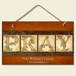 "New "" Pray Without Ceasing "" Bible Verse Sign Inspirational Plaque Picture Art"