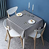 Thimmamma Tovaglia Lavabile, tovaglie quadrate Impermeabili in Vinile PVC per Tavolo Retta...