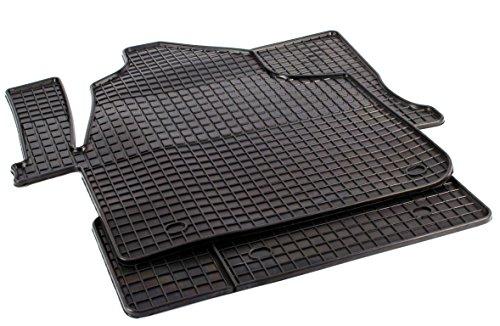 PETEX Gummimatten passend für Crafter ab 05/2006-02/2017 Führerhaus 2-3 Sitzer Fußmatten schwarz 2-teilig