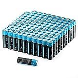 Pilas AA Mignon alcalinas LR6, 100 unidades, pilas desechables adecuadas para la alimentación de dispositivos de necesidades diarias