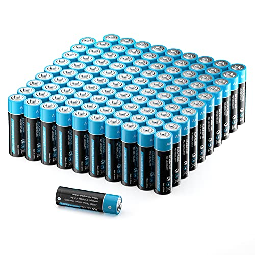 Batterien AA, AA Mignon Alkaline Batterien LR6 100 Stück, Batterien Einwegbatterien geeignet für die Stromversorgung von Geräten des täglichen Bedarfs