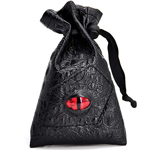 Drawstring Bag PU Leather Dice Pouch Perfect for...